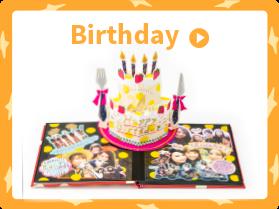 バースデーアルバム:誕生日の思い出にプレゼント