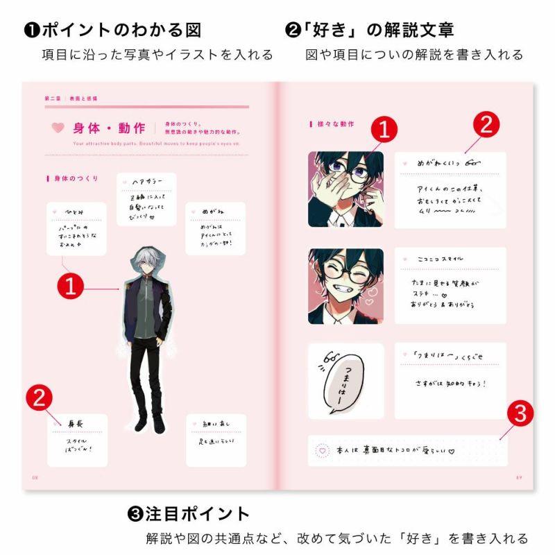present_book_好きなひと図鑑_デコレーションシール2枚付き_セット
